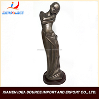 Resin tall black lady statue