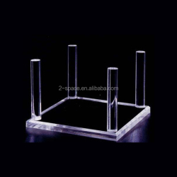 Four Peg Display Stand for Fossils Rocks Clear Acrylic Display Peg Stand for Minerals