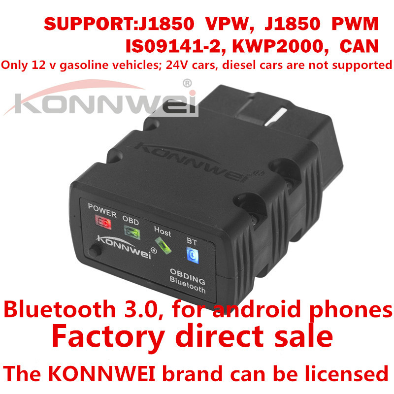 2017 Latest Mini ELM327 Bluetooth KW902 OBD-II Car Auto Diagnostic Scan Tools ELM 327