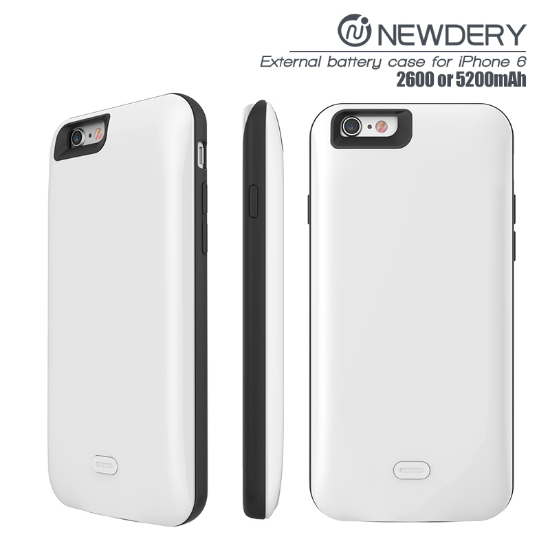 power bank phone case for apple 6s 2600mah POWER case slim phone charger cover for iphone 6