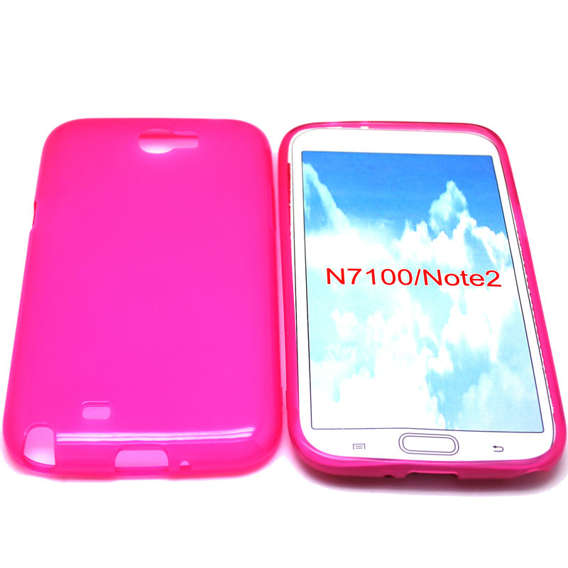 cellphone tpu case (gross outside,mette in side) for sumsung galaxy note2 N7100
