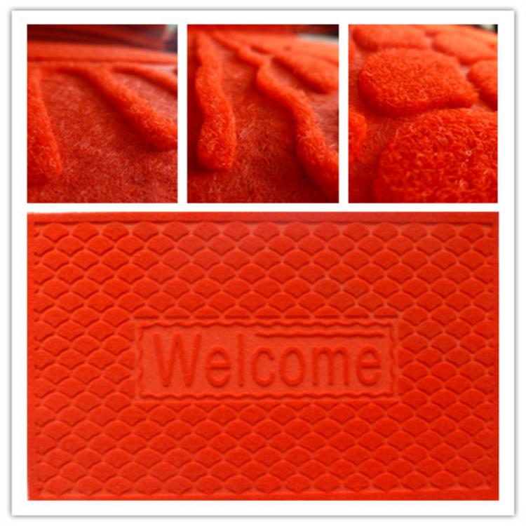 Custom WELCOME embossed pvc backing entrance mat