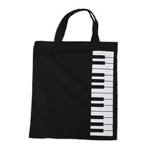 Music Theme Tote Bag - Pure Cotton - High Density Thin-Soft Portable