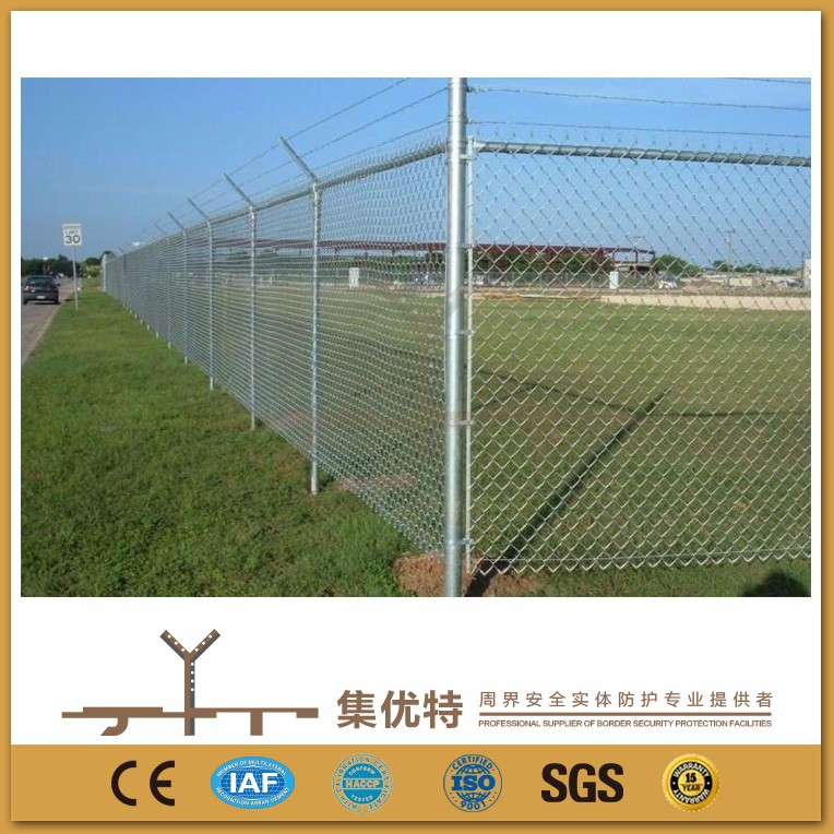 Customized size galvanized and pvc coated cheap chain link fencing