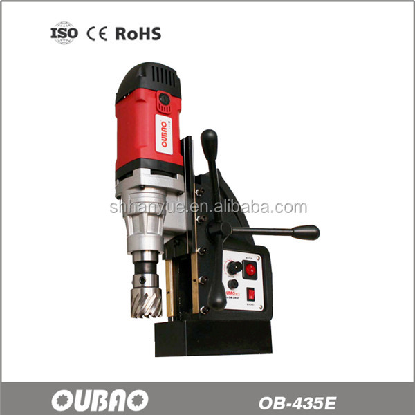 OB-435E stepless speed portable drill press with factory price,Magnesium alloy drill rig stand