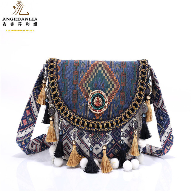 2017 Hot Sale Ethnic Gypsy Hippie Bags Women Embroidered Fabric bags Boho Shoulder bags