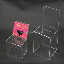 Manufacturing Customized Acrylic Display Money Box for Donation