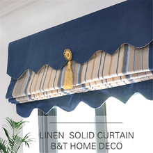 Beautiful comfortable cool tone feeling refined roman curtain in low price