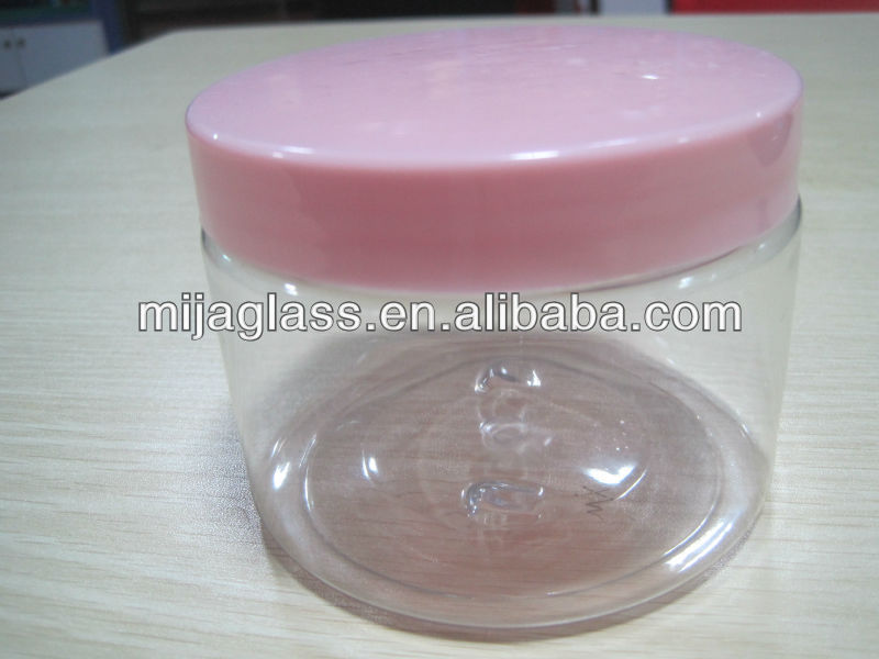 Cosmetics glass jar 50g skin care glass cosmetic plastic jar seal lid in guangzhou China