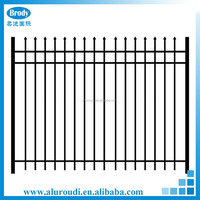 residential black aluminum fence picket