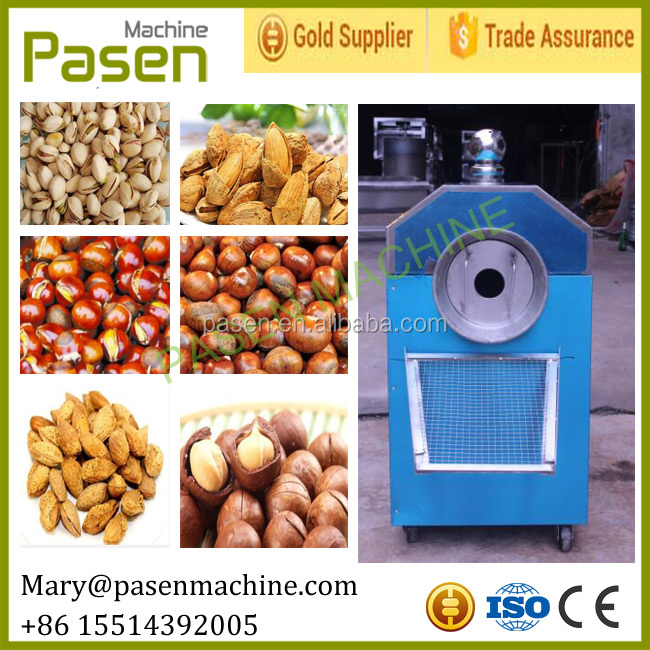 Electric rotary drum nut roaster / sunflower seed roaster machine