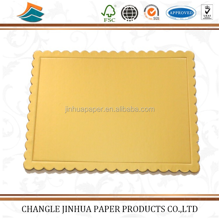 China manufacturing gold silver corrugated square cake boards