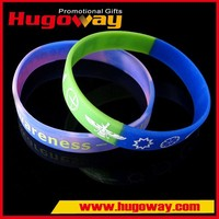 rainbow silicone wristband custom wristband cheap