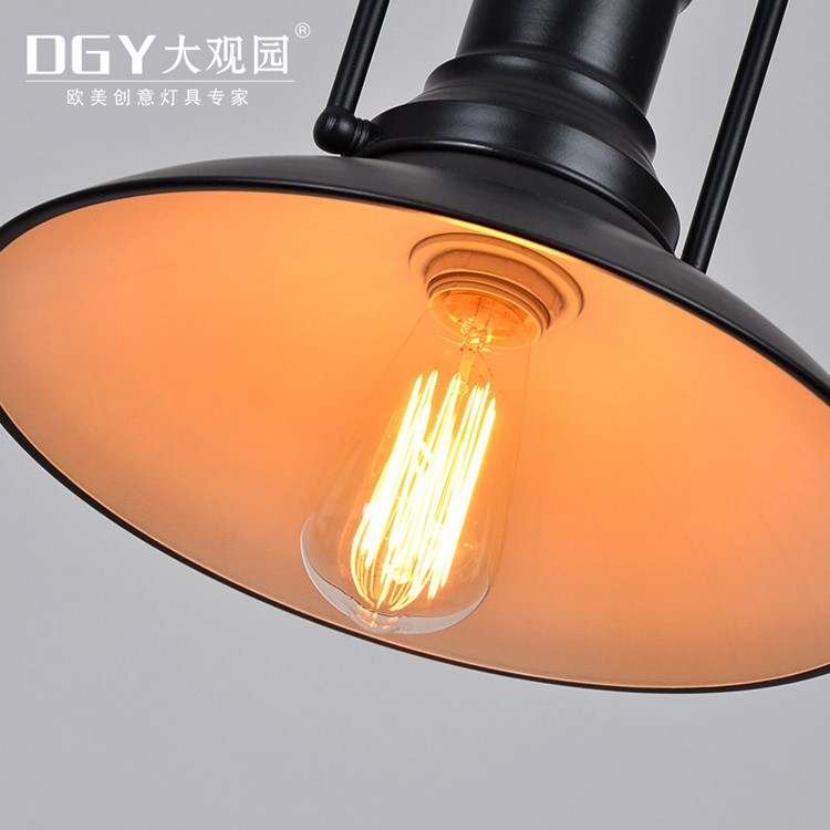 E27 black iron project commercial factory project industrial vintage pendant lamp