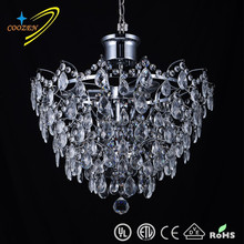 GZ10003-5P Crystal hot sale modern luxury chandelier for hotel decoration