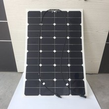 High efficiency mono 80w 100w 120w 150w semi flexible solar panel for soalr panel system with TUV CEC ROHS