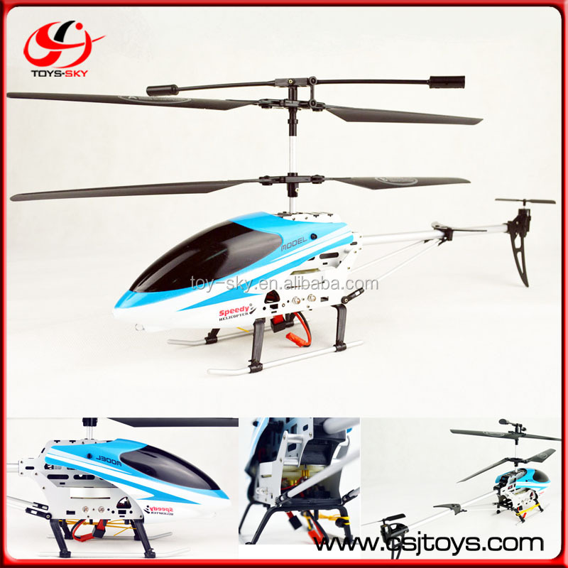 Easy Control 42cm RC Aircraft Copter Toys 4 Blades 3.5 Channel Remote Control 3CH RC Gyro Helicopter