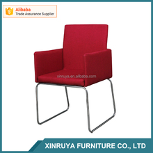 modern design red linen leisure chair,good sale armchair