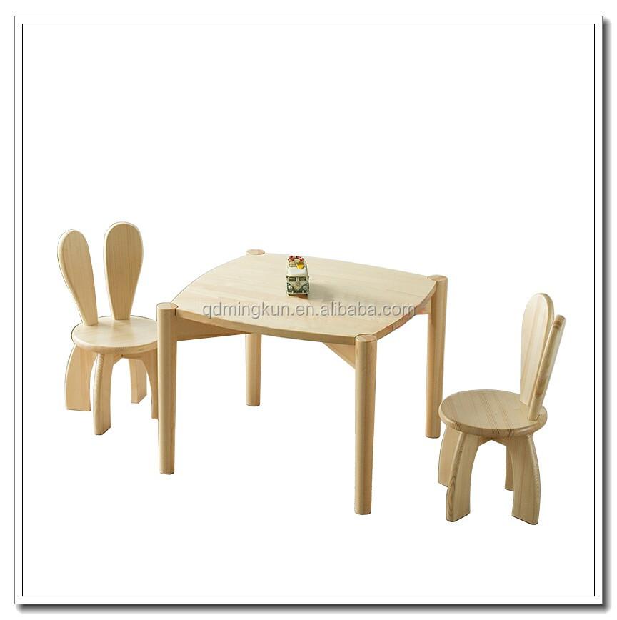 Design moderne pas cher en bois enfants p pini re table et for Table chaise enfant pas cher