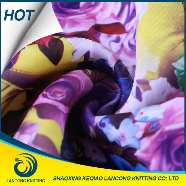 Famous Brand Clothing Material Fashion digital printed polyester chiffon fabric