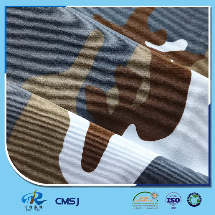 TC 65/35 poly cotton twill woven camouflage printed fabrics for army