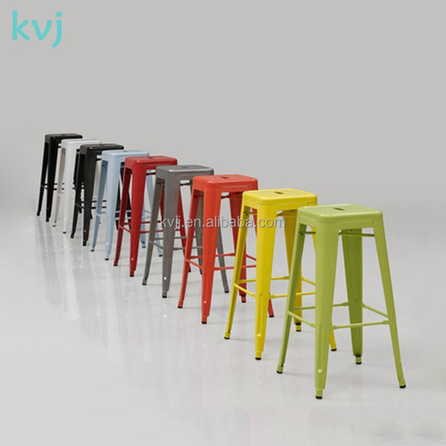 KVJ-4140 colored red industrial bar stool cheap metal bar high chair