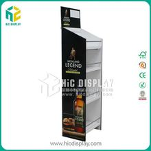 Custom printing alcohol display stand, beer caidboard display holder