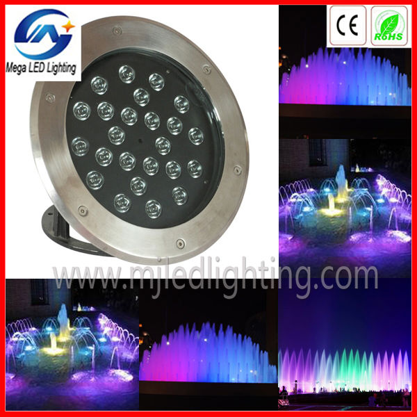 ip68 underwater with dmx signal 24x3w stainless steel wall fountain light