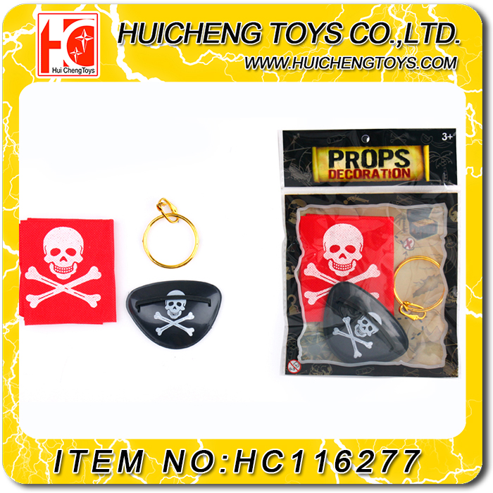 Emulational Eco-friendly 3PCS plastic pirate treasure chest set for kids cosplay EN71
