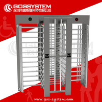 Access control system 30 person/min electronic automated rfid card full height turnstile