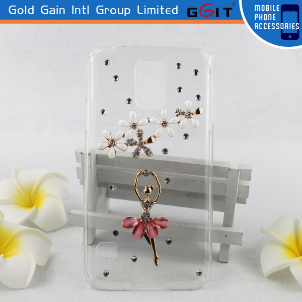 Crystal Clear Hard PC Case Cover For Samsung S5 i9600 With Diamond Thin Transparent