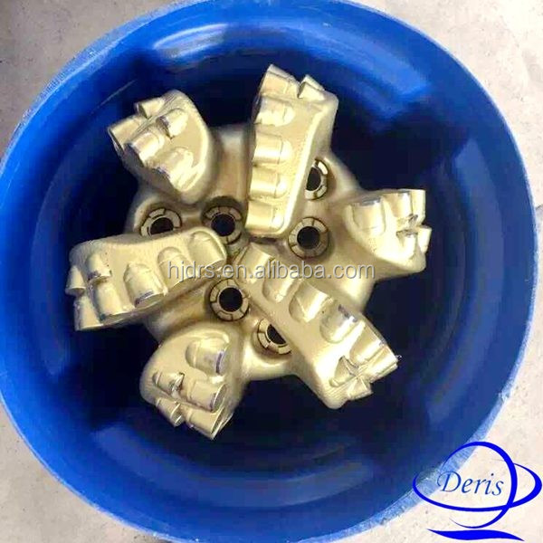 "double row cutters gauge protect 6 blade 12 1/4"" Matrix body m322 pdc bit pdc drill bit hard formation water oil well drill"