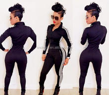 Z59906B New Fashion Hot Long Playsuit Sexy Black Bodycon Jumpsuits for Women