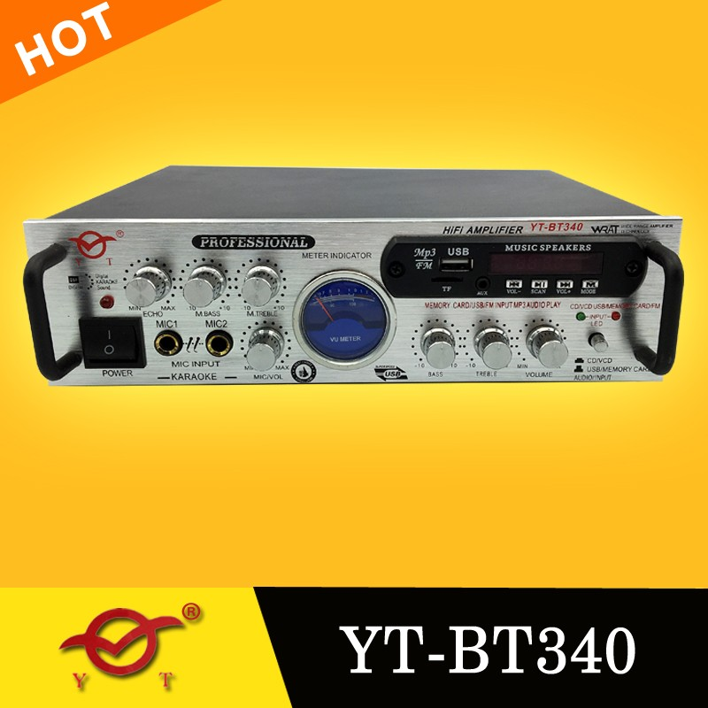 professional teacher portable mini amplifier YT-BT340 digital echo av karaoke amplifier