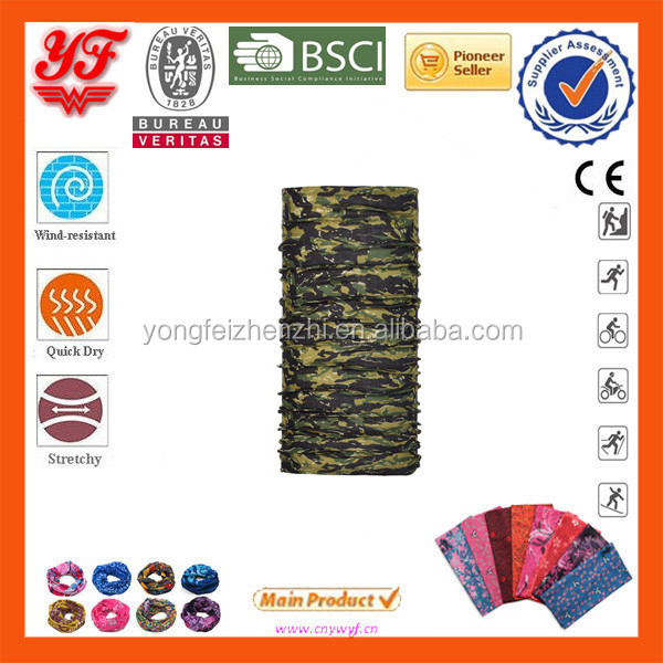 Green Yellow Grey Combination Of Meticulous Camouflage Pattern Multifunctional Seamless Tube Bandana Design Your Own Bandana