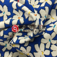 100%Rayon Flower Screen Print Fabric for Dress