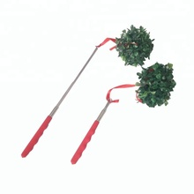 christmas decoration plastic extendable mistletoe, kissing ball