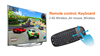 Mini Wireless Keyboard For Smart TV remote control