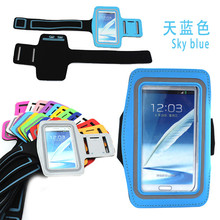 Waterproof armband case for samsung note 2 n7100 telefon case