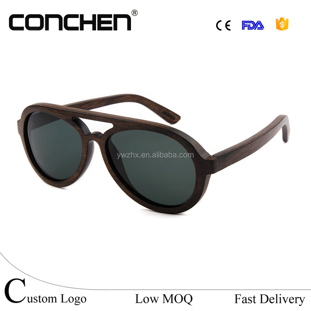 Made in china colorful wood frame sun glasses city vision sunglasses