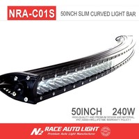 N2 wholesale colorado low profile 3d single row 50inch curve led bar light 240 watt for holden