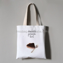 Wholesale custom blank reusable eco cotton canvas shopping tote bag with logo