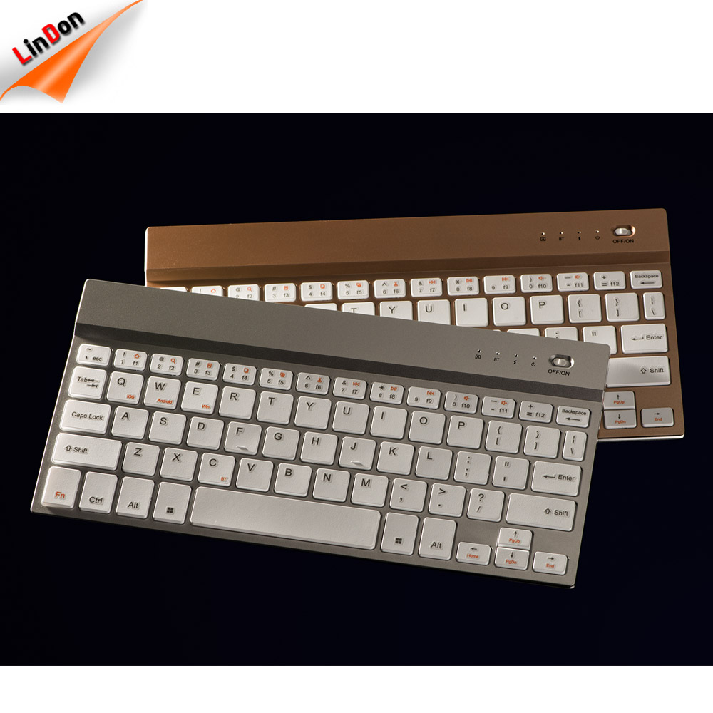 BK326D Wireless mini keyboard for apple aluminum scissor chocolate keyboard for iphone 8/8 plus