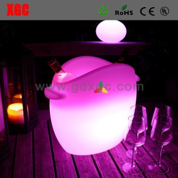 new arrive light up led ice bucket, glowing led plastic bucket GH208