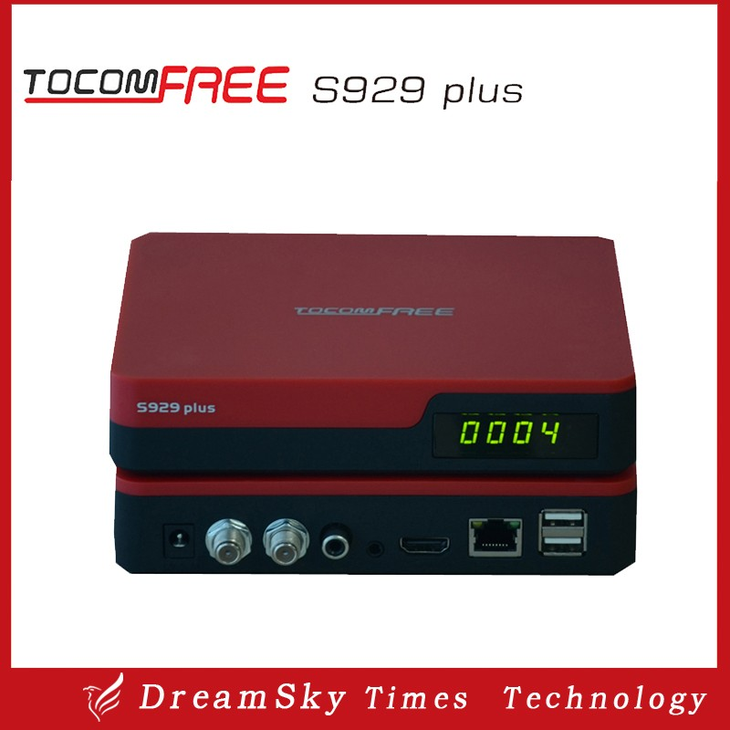 TOCOMFREE S929 Plus Decoder with Free IKS+SKS+IPTV Nagra3 Twin tuner receptor tocomfree satellite receiver for South America