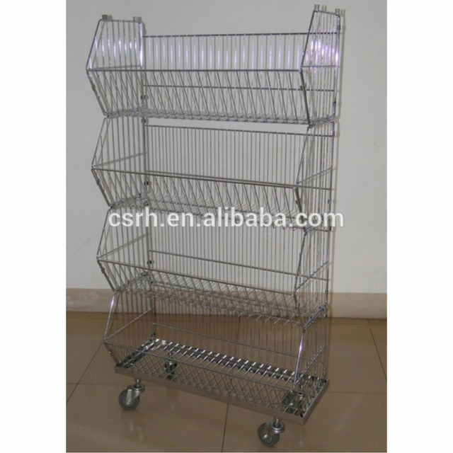 RH-BR03 Bright Chrome Plated Stacking Wire Basket