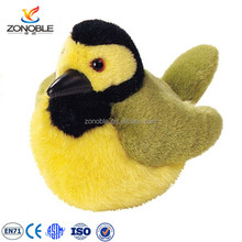 Colourful cute stuffed bird plush animal toy custom soft plush bird stuffed toy
