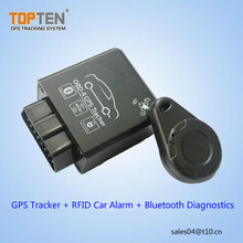 Topten GPS Tracker with RFID Car Alarm & Bluetooth Diagnostics support OBD-ll Real Tracking
