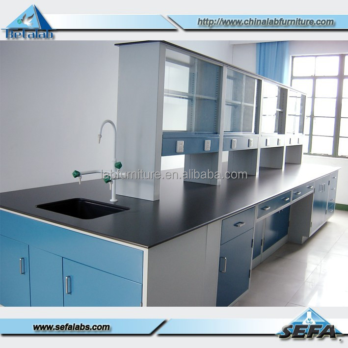 School language lab with lab sink lab bench