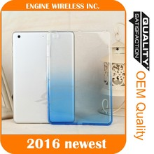 Silicone Rubber Gradient Soft TPU Ultra Thin Case Cover for iPad 2/3/4/ mini/Air2